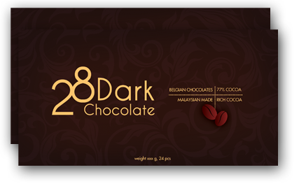 28 Dark Chocolate 77% Belgium Cocoa